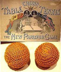 Bolas antiguas de tenis de mesa en la historia del ping pong
