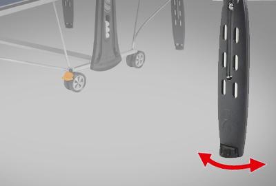 Sistema de patas ajustables de la mesa de ping pong CORNILLEAU Sport 250 Indoor
