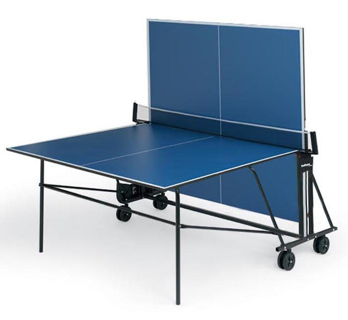 Imagen de la mesa de ping pong Creber Atlas new Interior semi plagada frontón