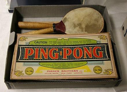 Juego del ping pong por Parker Brothers, historia del ping pong