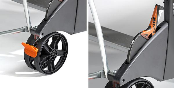CORNILLEAU Sport 500 M Crossover ruedas, freno y guarda raqueta