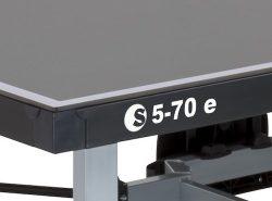 Mesa de ping pong para exterior SPONETA S 5-70 e detalle tablero chasis y estructura