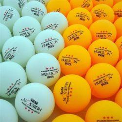 pelotas de ping pong colores oficiales blanco y naranja