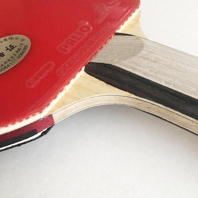Palio expert 2 raqueta de tenis de mesa detalle madera y gomas