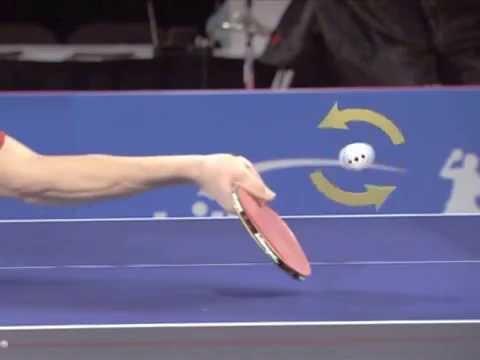 golpe cortado en tenis de mesa