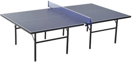 HOMCOM Mesa de Ping Pong Plegable con Red 152.5x274x76cm Tenis de Mesa y Material de Acero